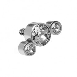 Tytanowa nakrętka - cluster z trzema kryształkami