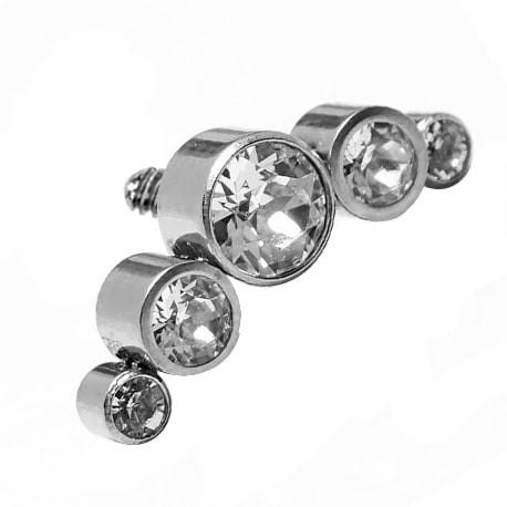 Tytanowa nakrętka - cluster z pięcioma kryształkami
