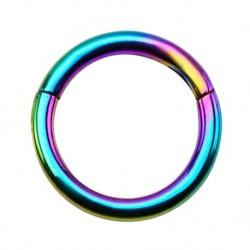 Tytanowy tęczowy segment ring PK412