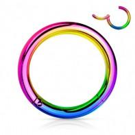 Tytanowy tęczowy segment ring clicker