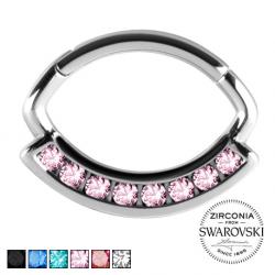 Srebrny clicker z kryształami PN577