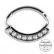 Srebrny clicker z kryształami