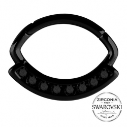 Czarny clicker z kryształami