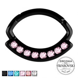 Czarny clicker z kryształami PN579