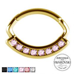 Złoty clicker z kryształami PN578