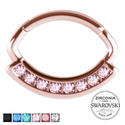 Clicker rose gold z kryształami PN580