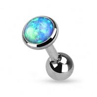 Kolczyk z niebieskim opalem