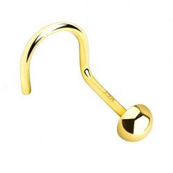 Kolczyk do nosa - Złota półkula PN737