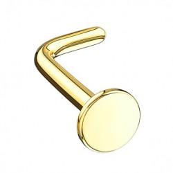 Kolczyk do nosa - Złoty dysk PN730