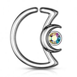 Rozginany półksiężyc z kryształkiem