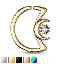 Rozginany półksiężyc z białym kryształkiem KU540