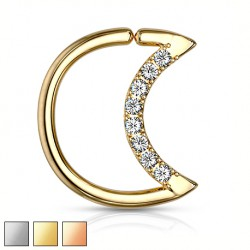 Rozginany półksiężyc z kryształkami KU542