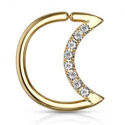 Rozginany półksiężyc z kryształkami