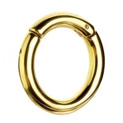 Złote stalowe kółko clicker - Duże rozmiary PK516 B
