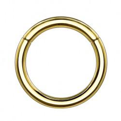 Tytanowy złoty segment ring PK408