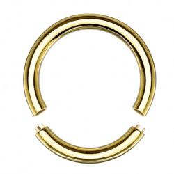 Złote kółko - segment ring z tytanu