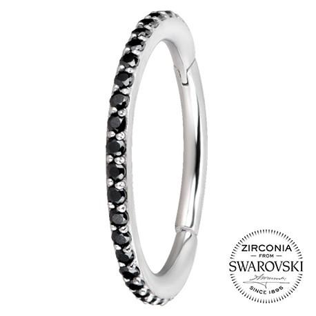 Srebrny clicker z kryształkami SWAROVSKI®