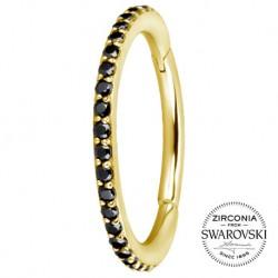 Złoty clicker z kryształkami SWAROVSKI®