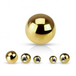 Złota kulka z tytanu