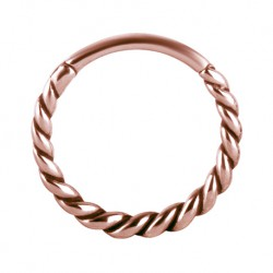 Clicker rose gold - plecionka KU559 D