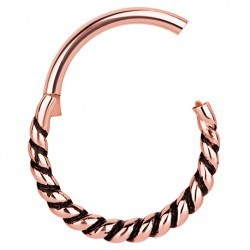 Clicker rose gold - plecionka