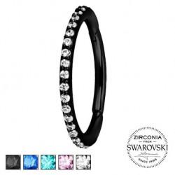 Czarny clicker z kryształkami SWAROVSKI® KU550