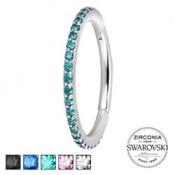 Srebrny clicker z kryształkami SWAROVSKI® KU548