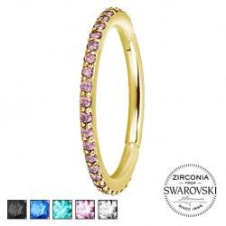 Złoty clicker z kryształkami SWAROVSKI® KU549