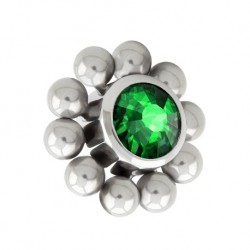 Tytanowa nakrętka - kryształek z kulkami