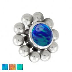 Tytanowa nakrętka - opal z kulkami PD445