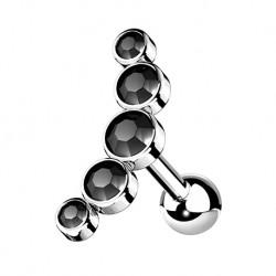 Cluster do ucha z kryształkami