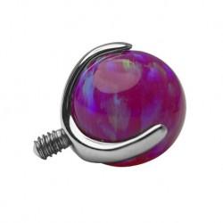 Tytanowa nakrętka - fioletowy opal PD434 A