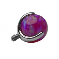 Tytanowa nakrętka - fioletowy opal