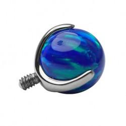 Tytanowa nakrętka - niebieski opal PD434 B