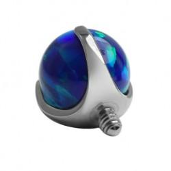 Tytanowa nakrętka - niebieski opal