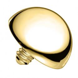 Nakrętka na microdermal - z 14K złota, półkula PI704