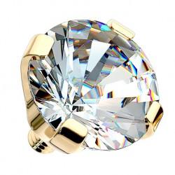 Nakrętka na microdermal - z 14K złota, kryształek PI706