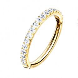 Clicker ze złota 14K, z kryształkami PK705