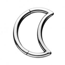 Tytanowy clicker - półksieżyc KU401
