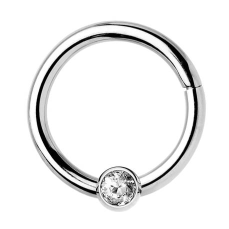 Tytanowy clicker z kryształkiem