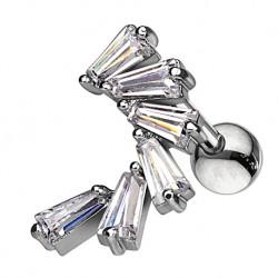 Kolczyk do ucha - Trapezowe kryształki KT505