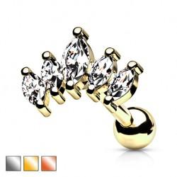 Kolczyk do ucha - Kryształki KT516