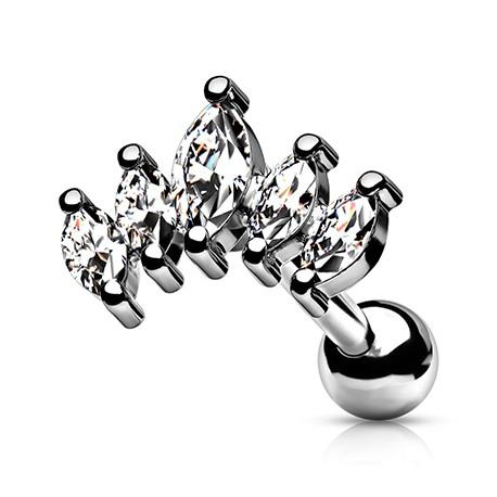 Kolczyk do ucha - Kryształki