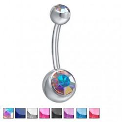 Kolczyk do pępka z kryształkami PB504