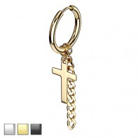 Clicker z krzyżem i łańcuszkiem