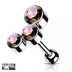 Kolczyk do ucha - Kryształki Vitrail Medium KT525