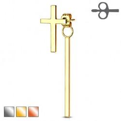 Krzyż z wiszącą kreseczką KT537