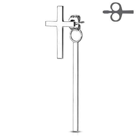 Krzyż z wiszącą kreseczką
